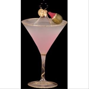 "Christopher Radko ""Shaken not Stirred"" pink mrtini"